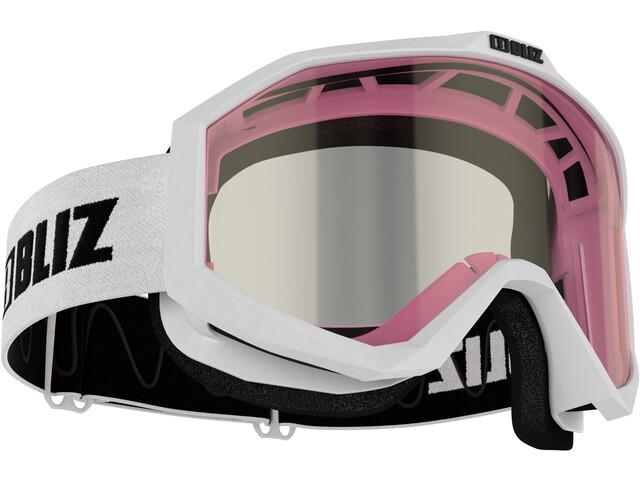 Bliz Liner Goggles Single Lens white-black/pink